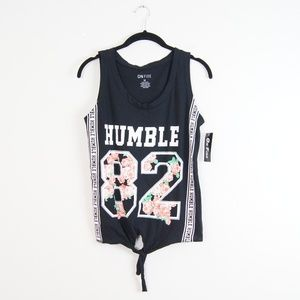 On Fire | Humble Black Muscle Tee